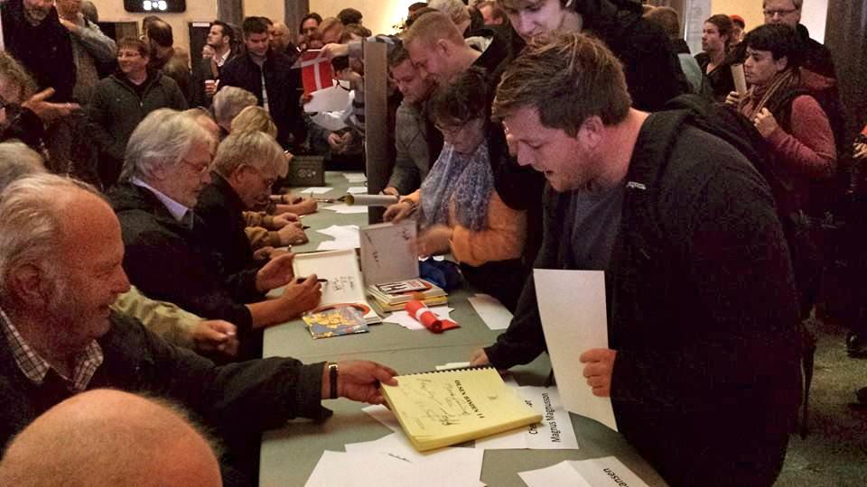 Olsen banden jubilæum 2013 signering og autografer
