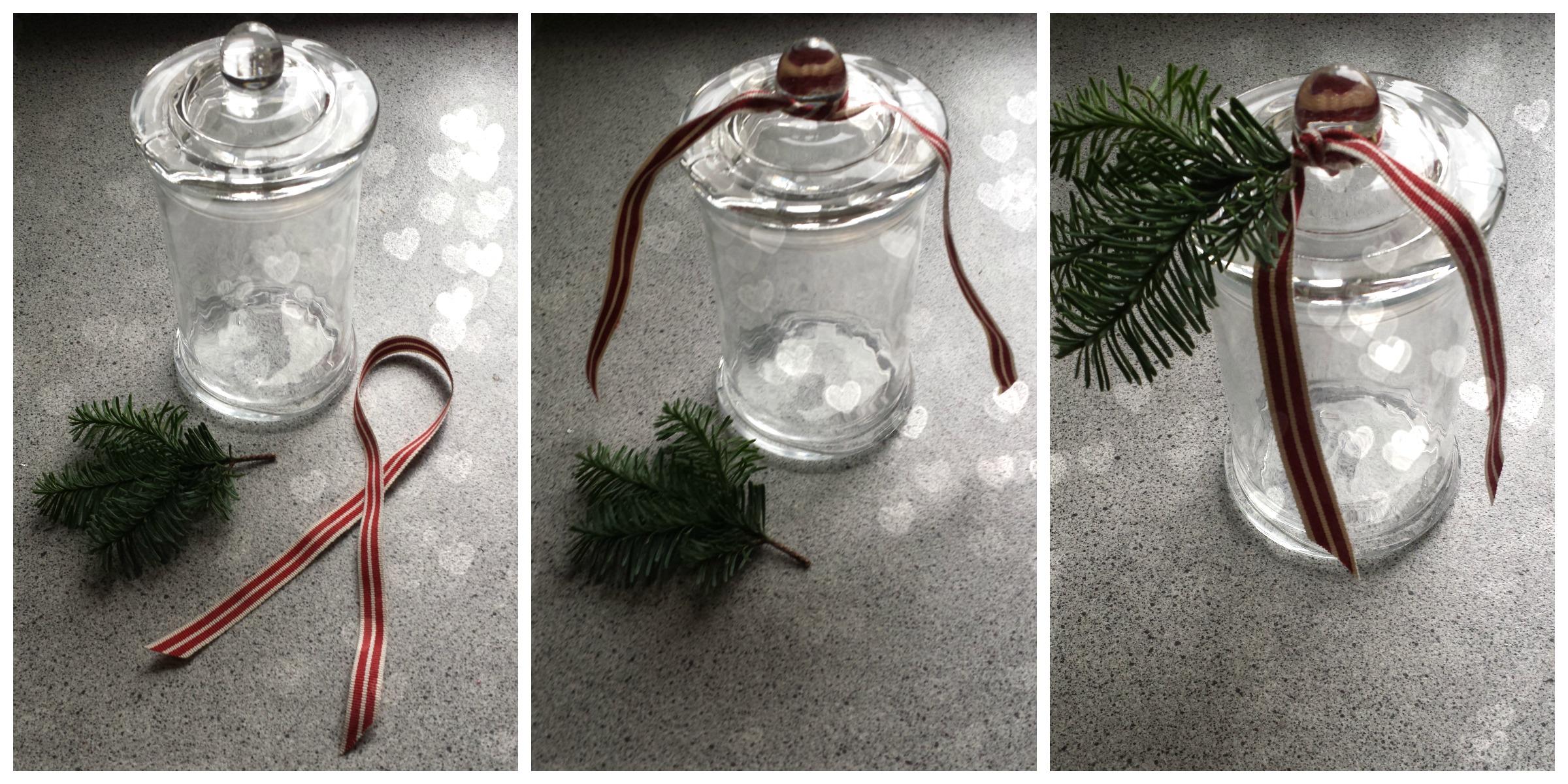 DIY glas til opbevaring