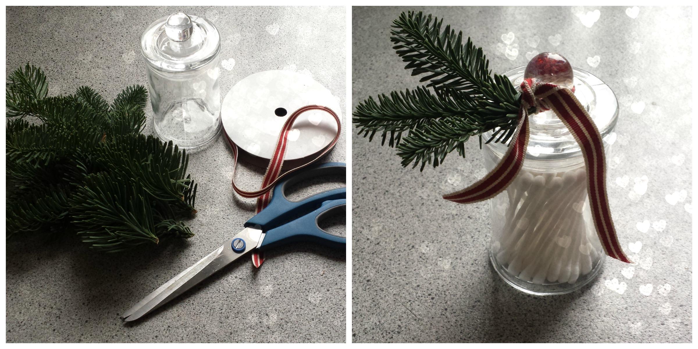 DIY pynt glas til vatpinde mm.