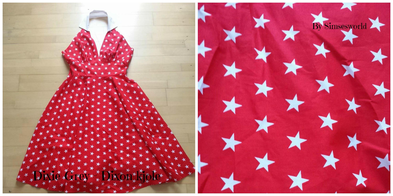 Dixie grey Dixon kjole stjerne retro