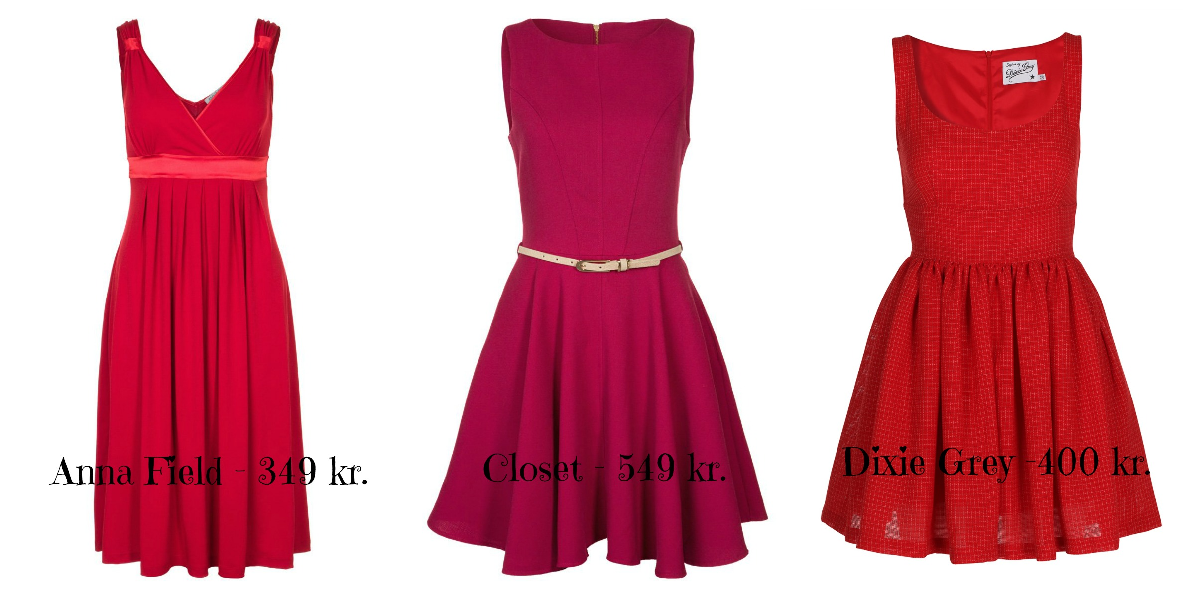 Røde enkle kjoler valentinsday
