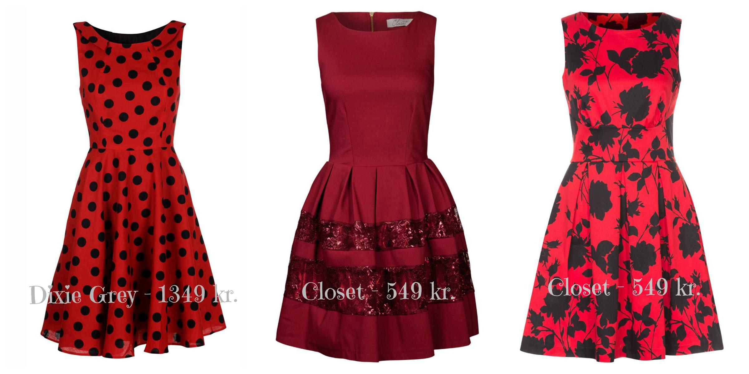 Røde kjoler med detaljer valentines day