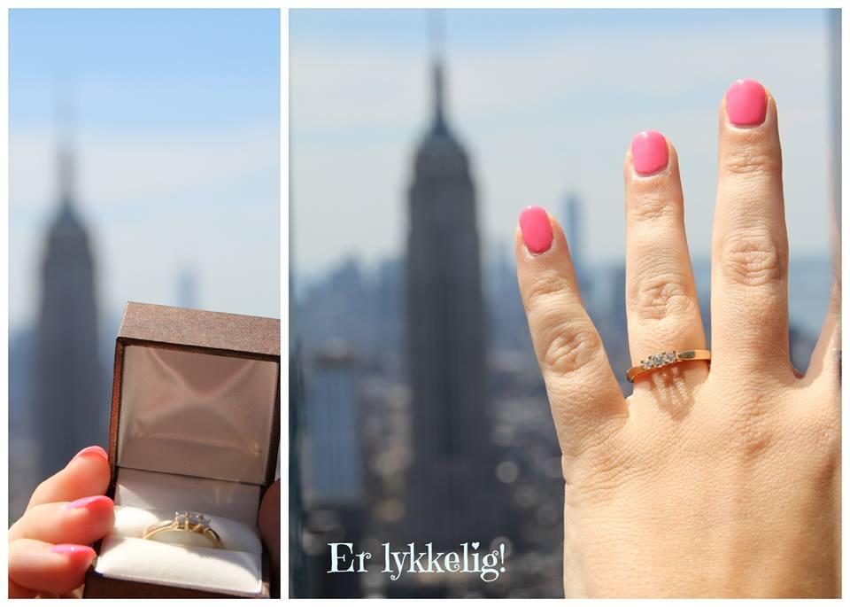 Jeg sagde JA på toppen af Empire State Building
